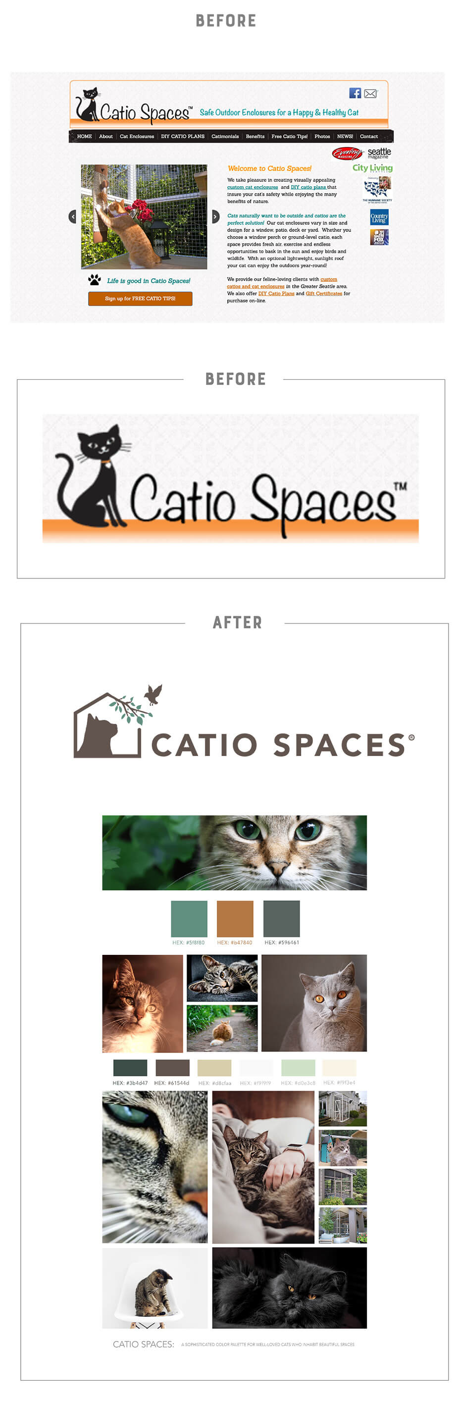 Catio spaces website before branding