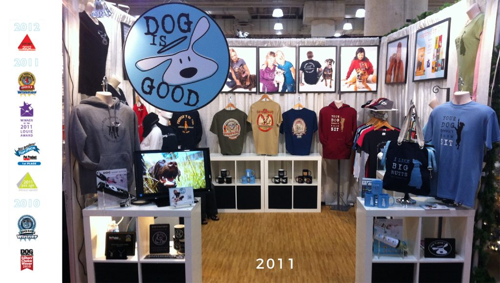 dog is good booth at new york gift show 2011