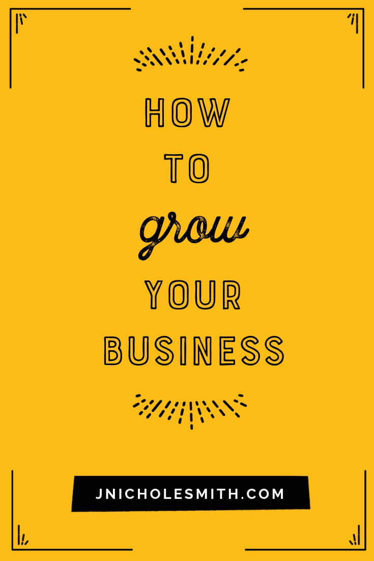 How do I grow my business graphic