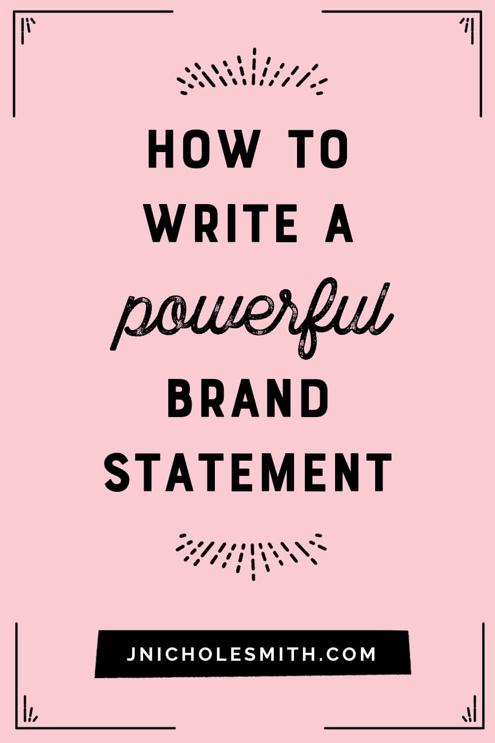 What is a brand statement pin image