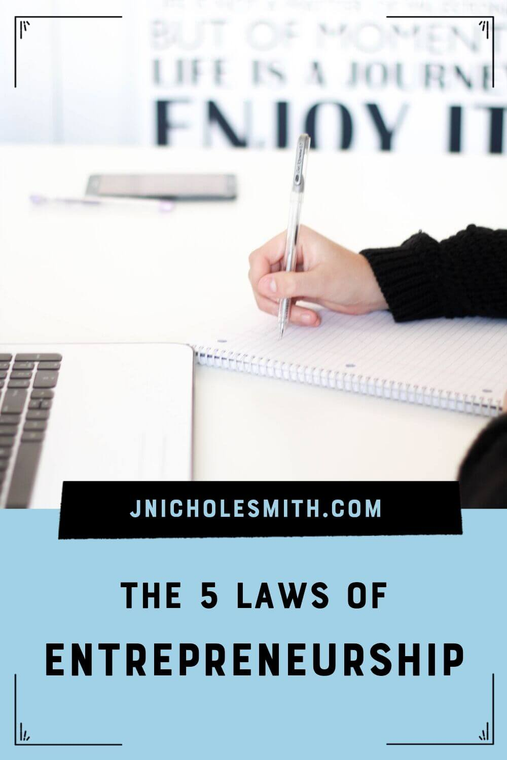 5 laws of business pin image