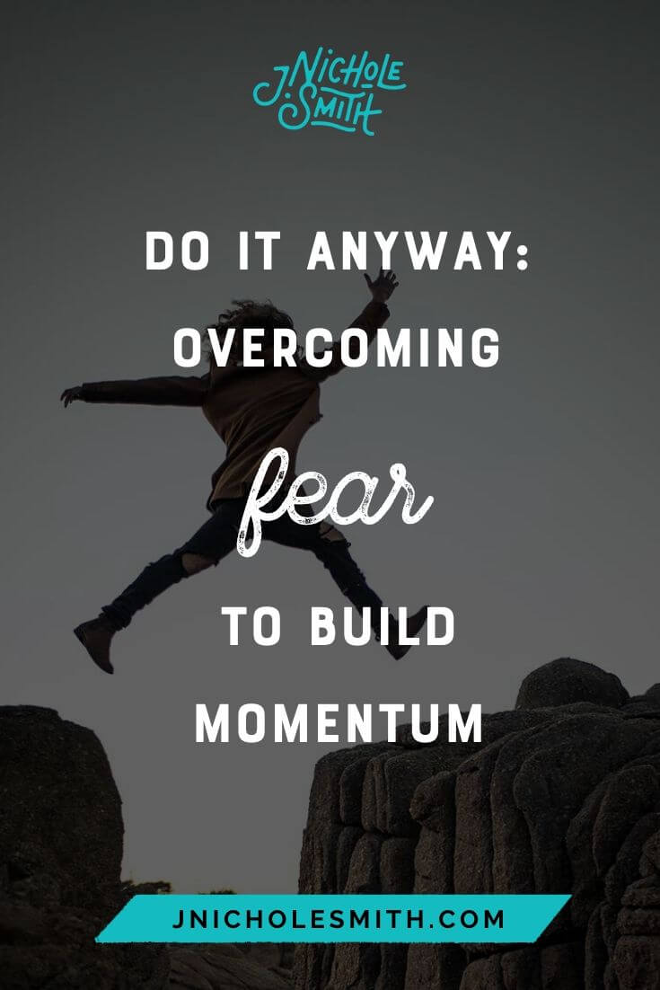 Overcoming Fear Momentum pin image